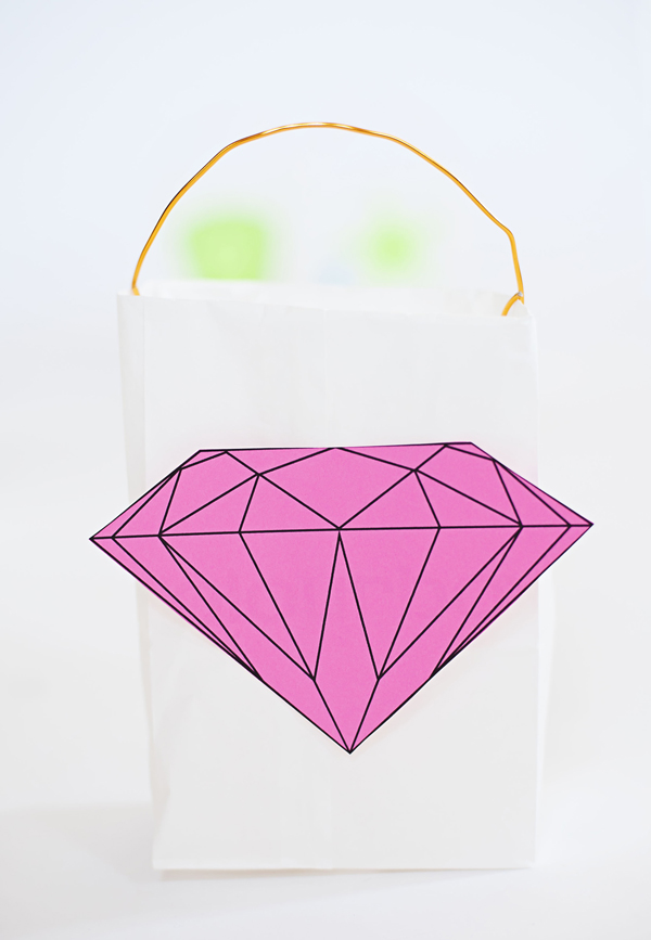 Paper bag jewel lantern
