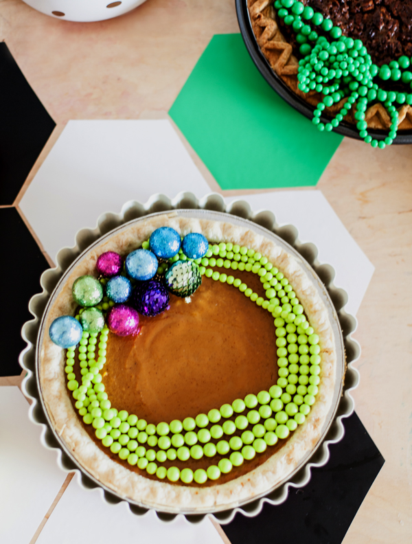 Jewel topped holiday pie