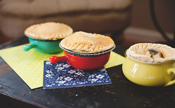 Easy to make pot pies - perfect for a crowd!