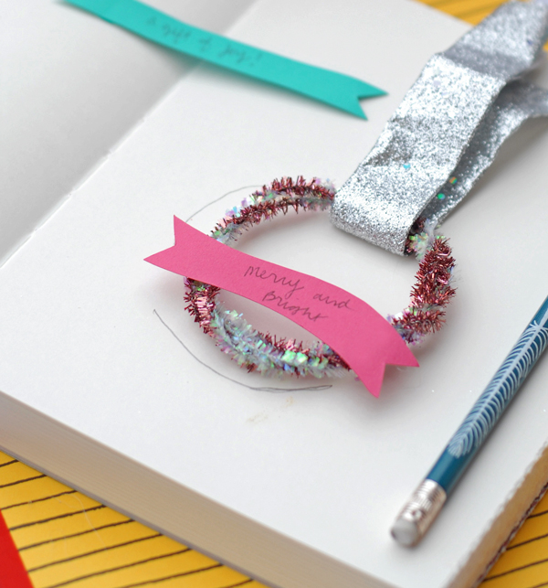 Sketching wreath topped presents
