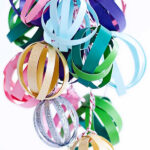 Miniature paper ball ornaments