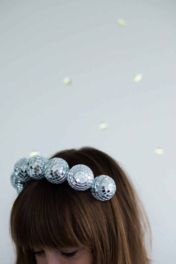 Disco ball headband