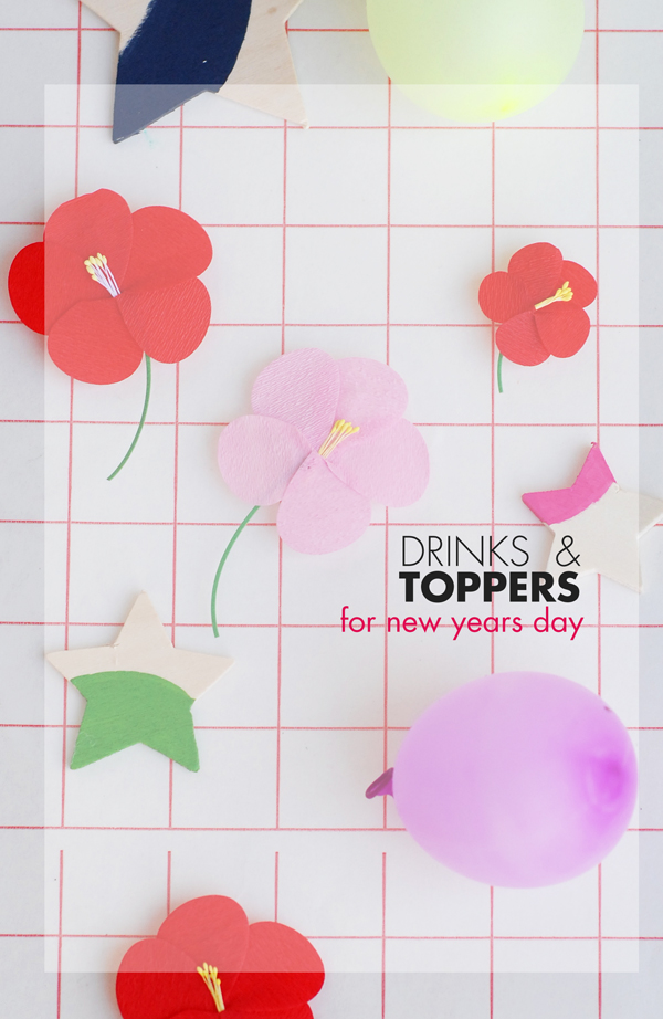 Drinks and Toppers for New Years Day