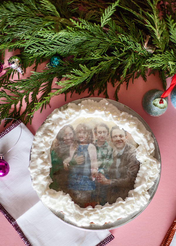 Family photo pie toppers