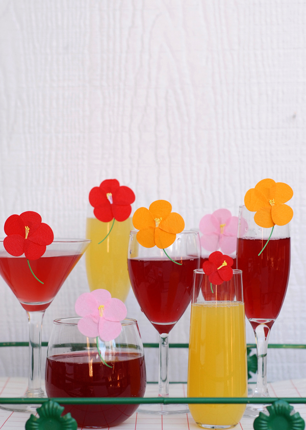 Flower drink markers