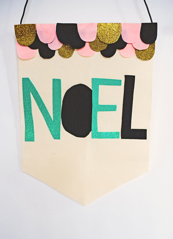 Felt NOEL holiday banner