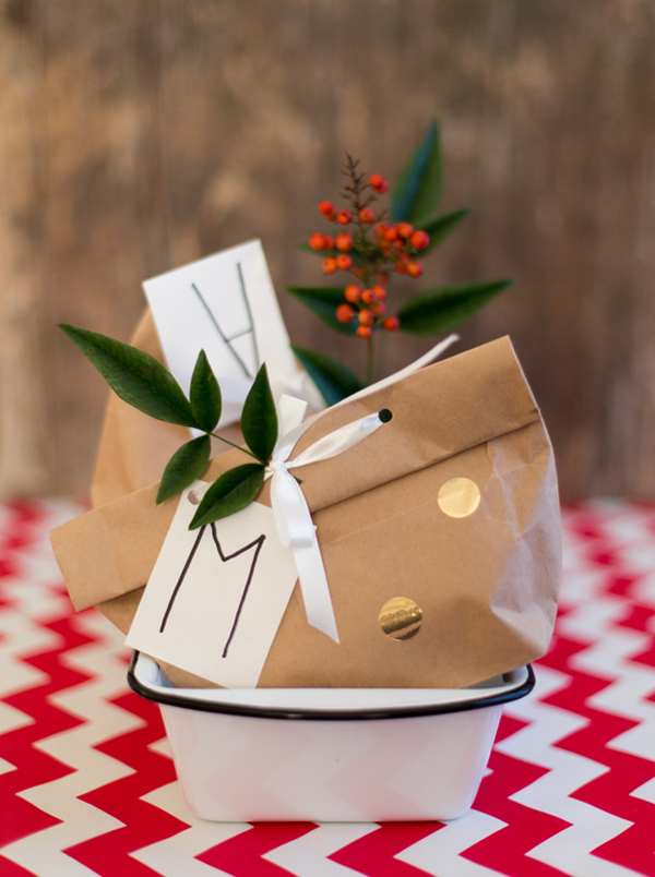 gold dot paper bags