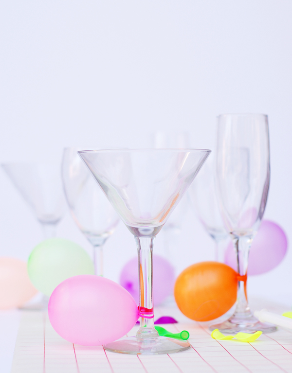Party balloon drink markers