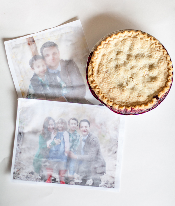 How to make a family photo pie topper