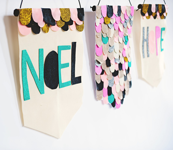 Felt scallop party banners