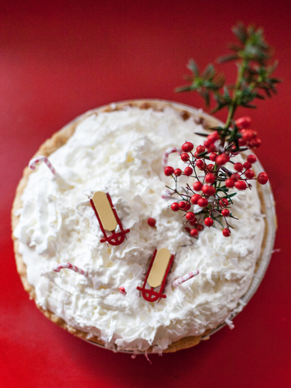 Winter wonderland pie topper