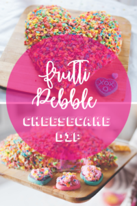 Frutti pebble cheesecake dip