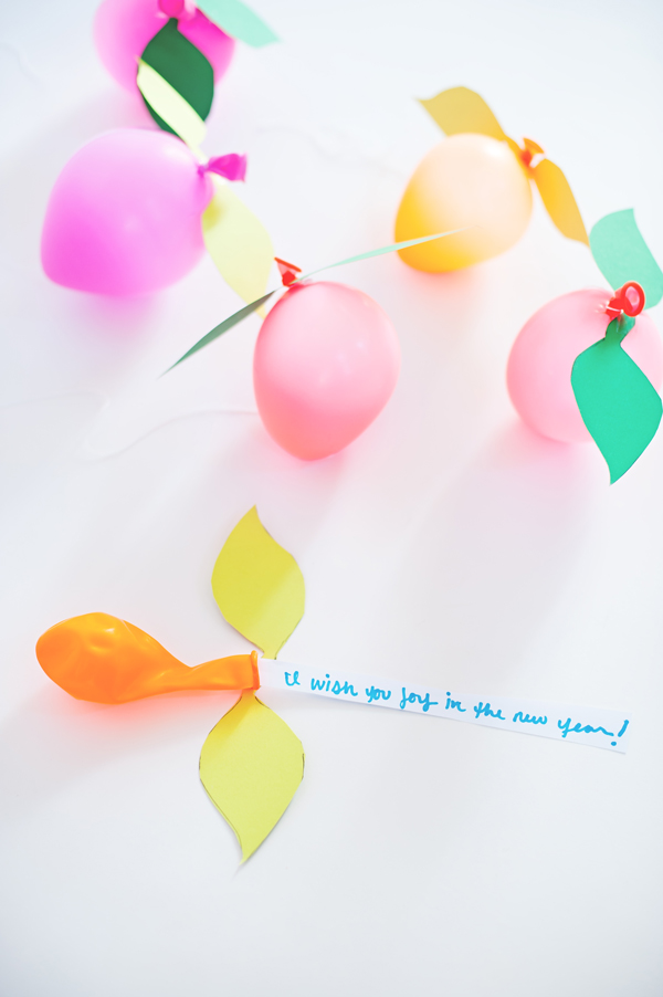 Balloon Fruit with wishes