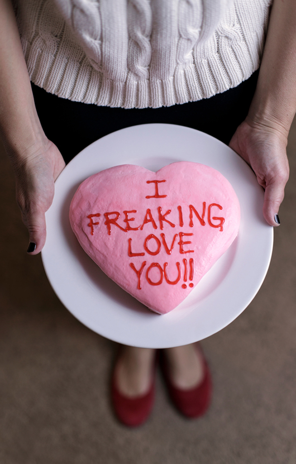 I freaking love you icing on the cake • A Subtle Revelry