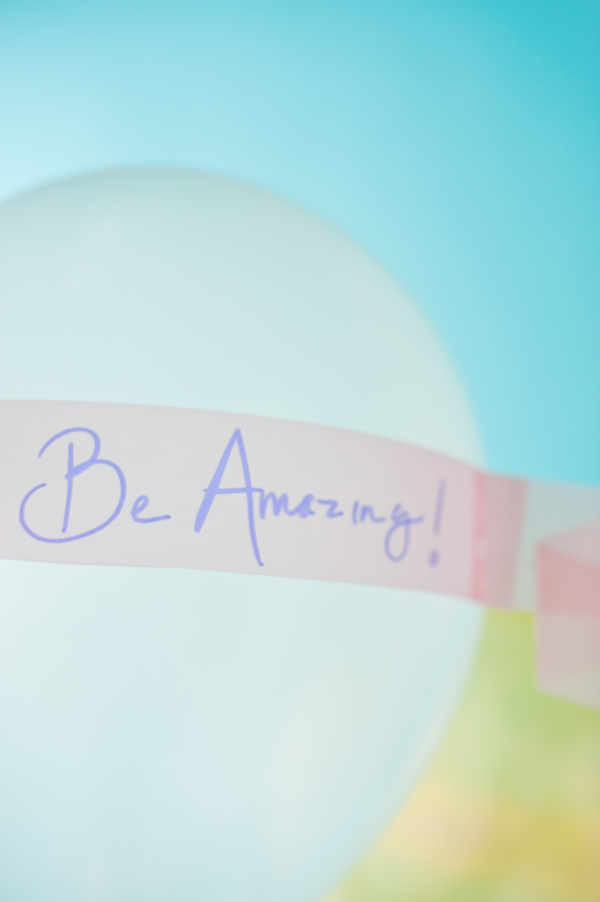 Be amazing birthday balloon