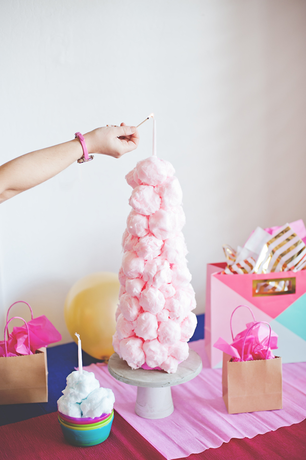 Cotton candy Ball Tower