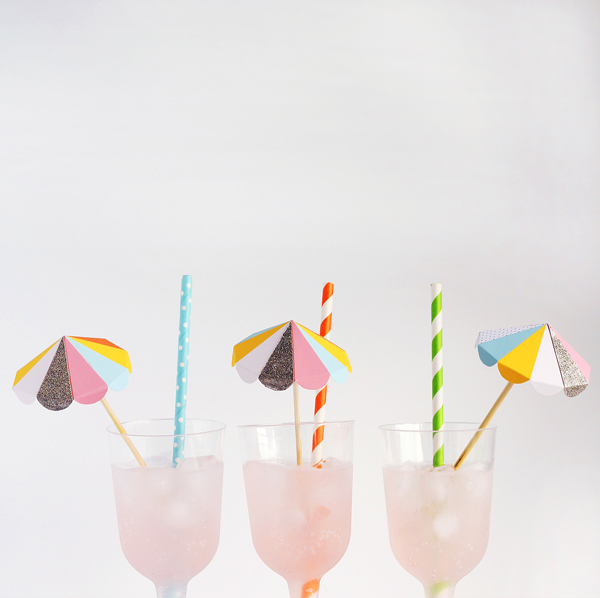 Paper Umbrella Drink Stirs Free To Print