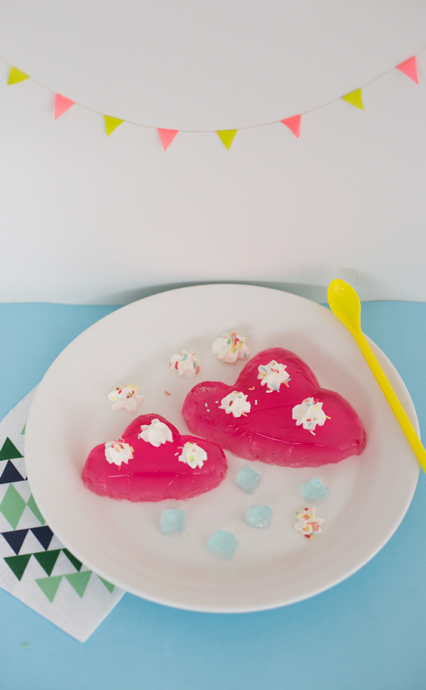 Pink cloud jello molds
