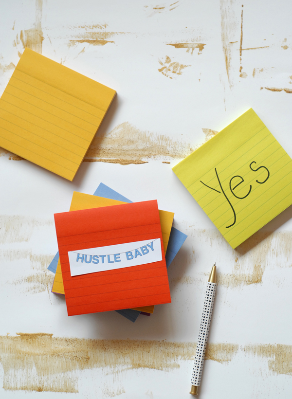 Post-it encouragement board for the office.