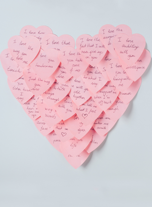 Post it note heart