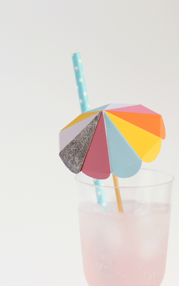 Paper umbrella drink stirs >> Free to print