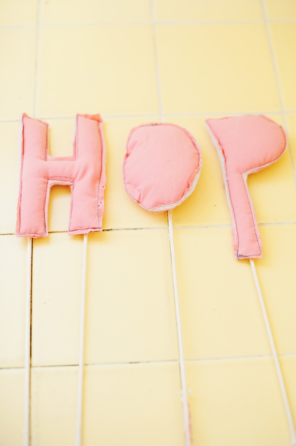 Graphic letter cake toppers