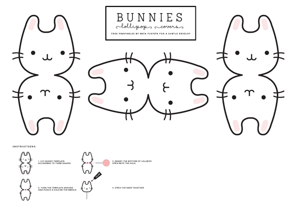A Subtle Revelry: Bunny lollipop covers (free printable!)