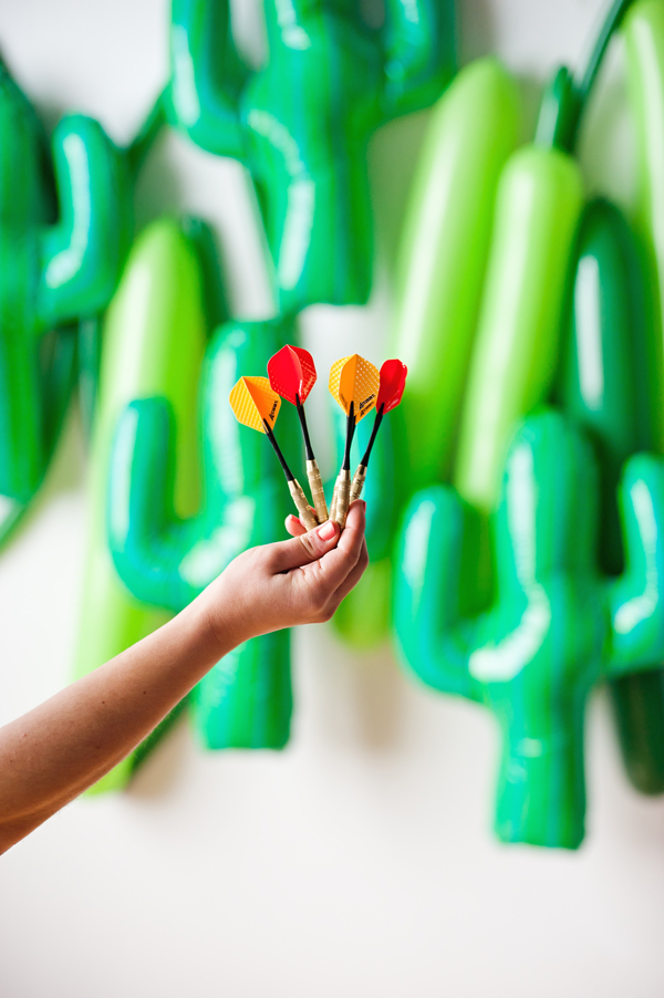 Cactus balloon darts