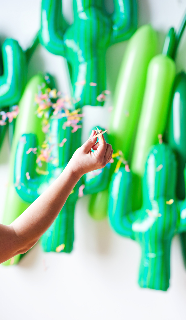 DIY Cactus balloon darts