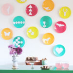 Colorful wall of plates