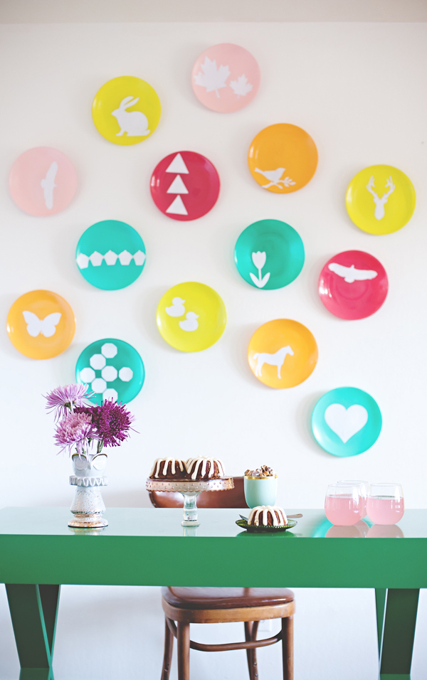 Colorful wall plates