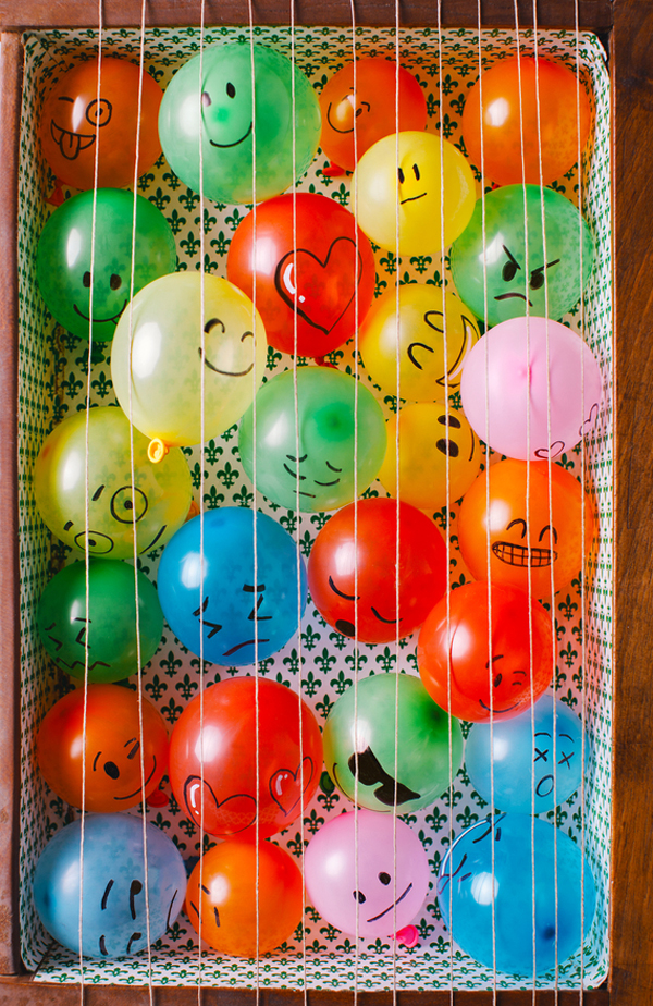 Drawer full of balloons - April Fool's Day joke