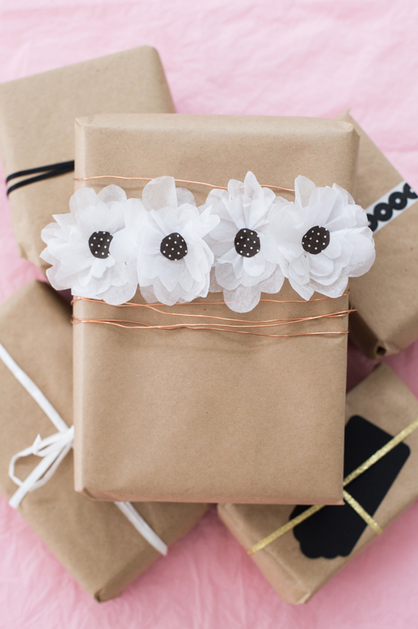 The Cutest Diy Flower Gift Wrap A Subtle Revelry