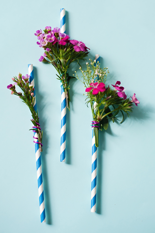 Floral Straws