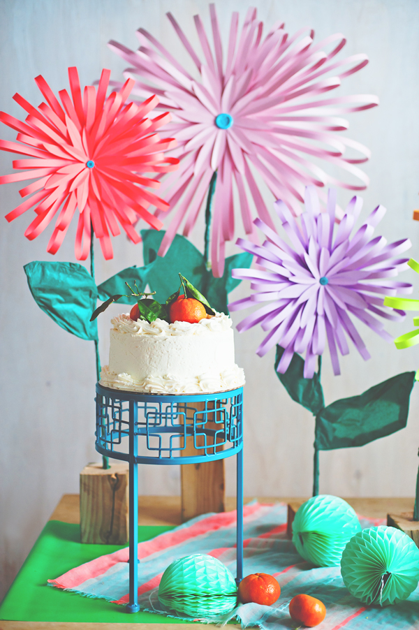 DIY Paper flower brunch