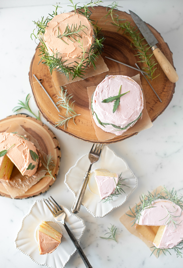 herb infused birthday cakes