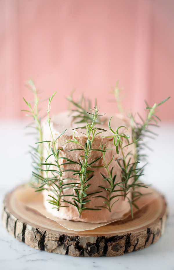 Herb infused birthday cake