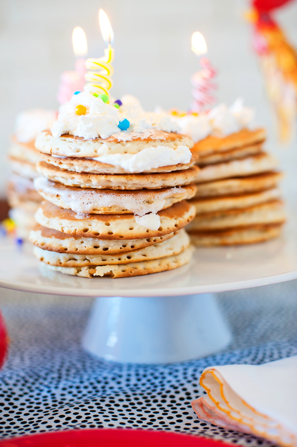 Birthday pancakes