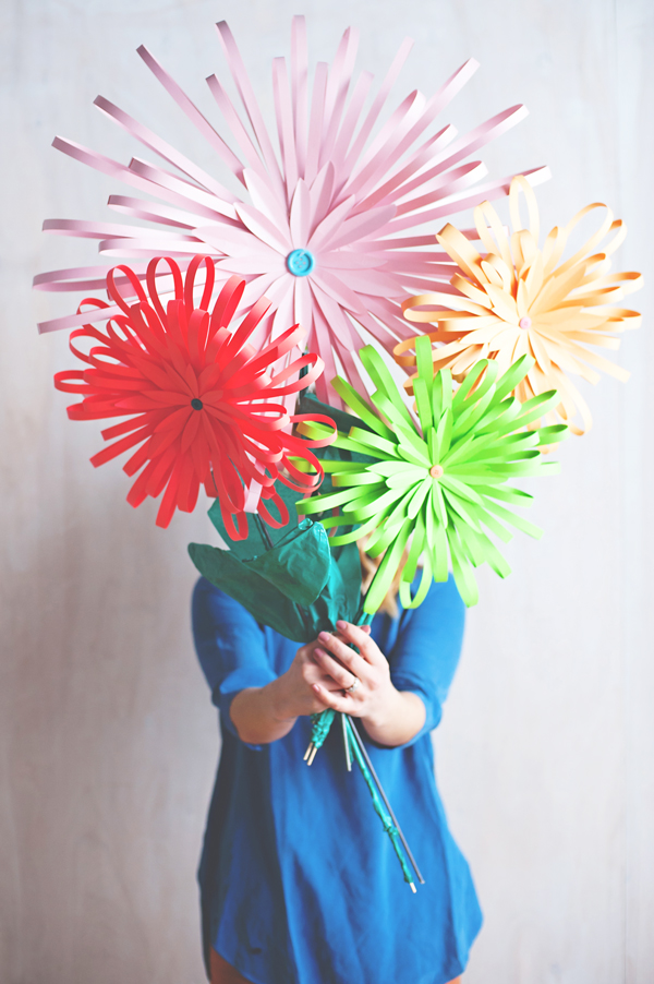 A paper flower bouquet