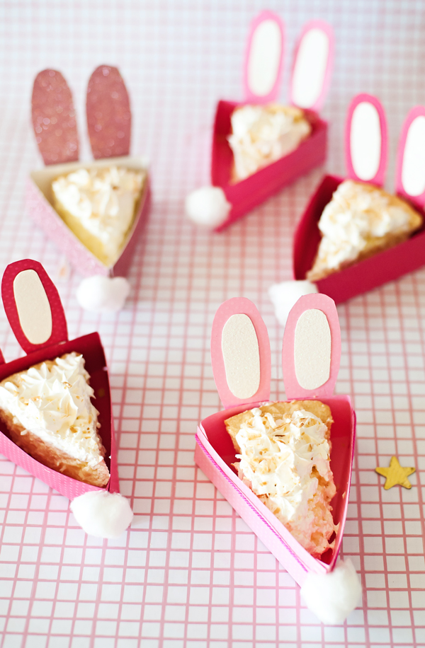 Cotton Bunny pie boxes