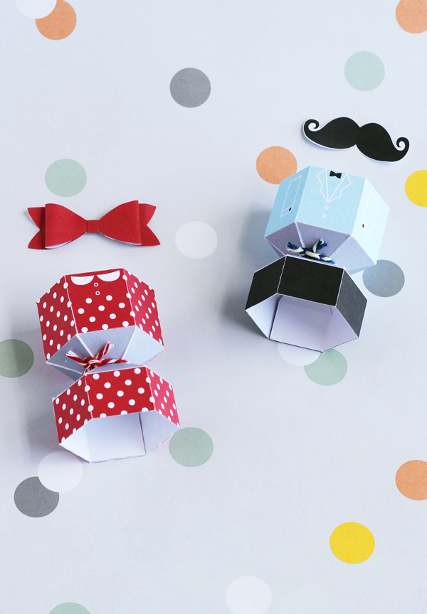 Printable suit and dress egg holders