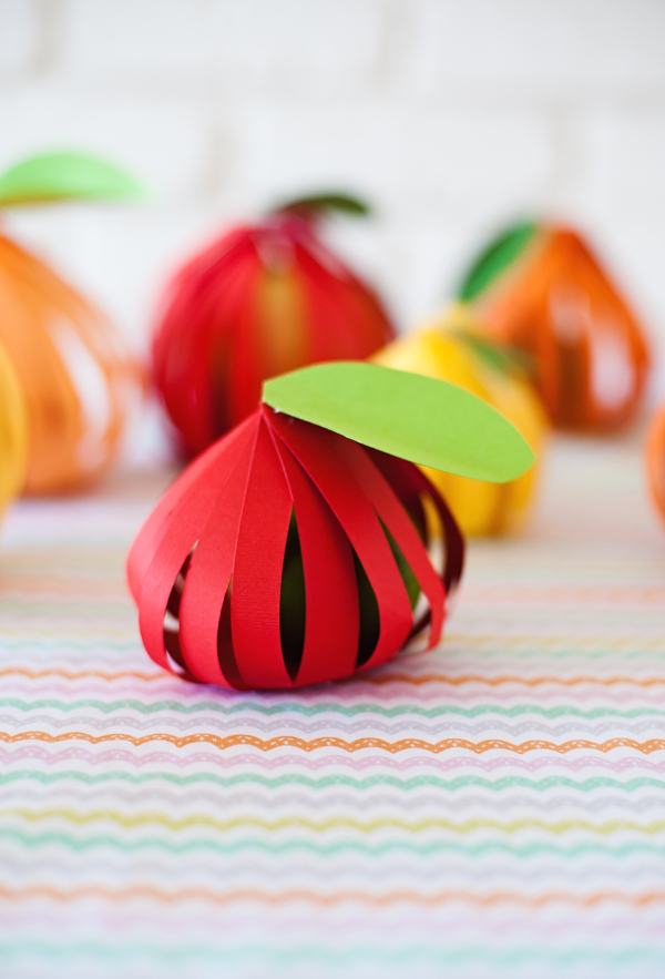 Paper wrapped fruit