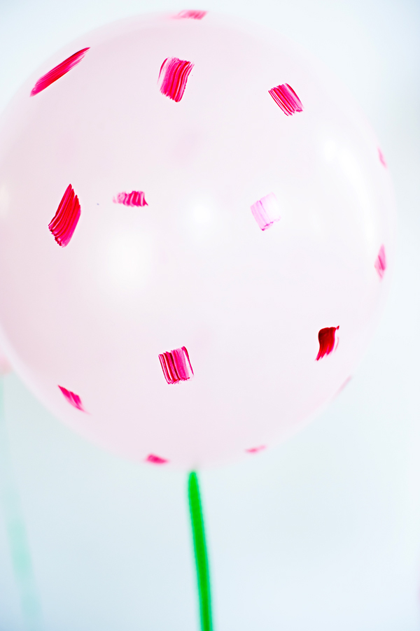 Brushstroke birthday balloons
