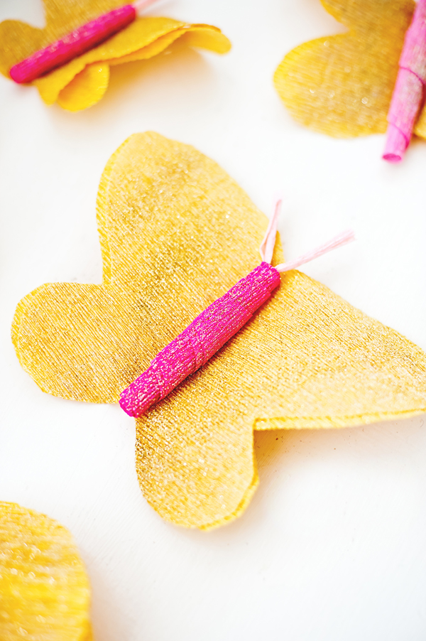 Glitter butterfly cake toppers