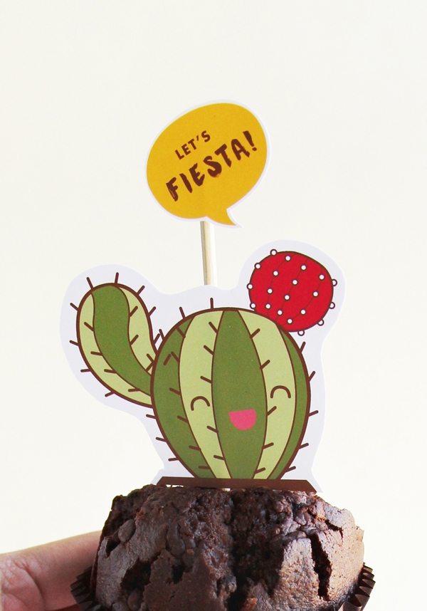 Let's Fiesta - cupcake toppers