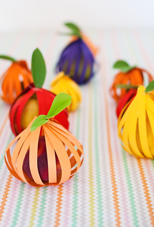 Paper wrapped fruits
