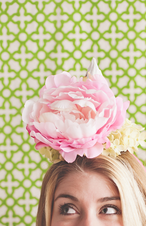 DIY Plaster flower party hats