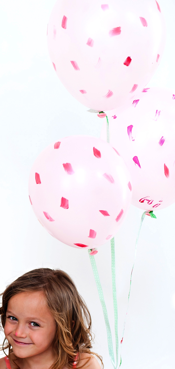 Brushstroke party balloons