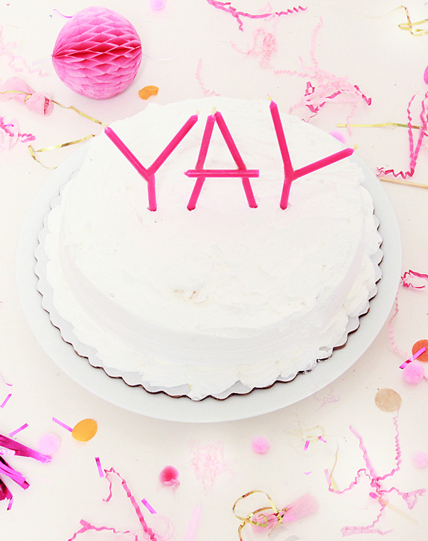 Talking candle cake topper