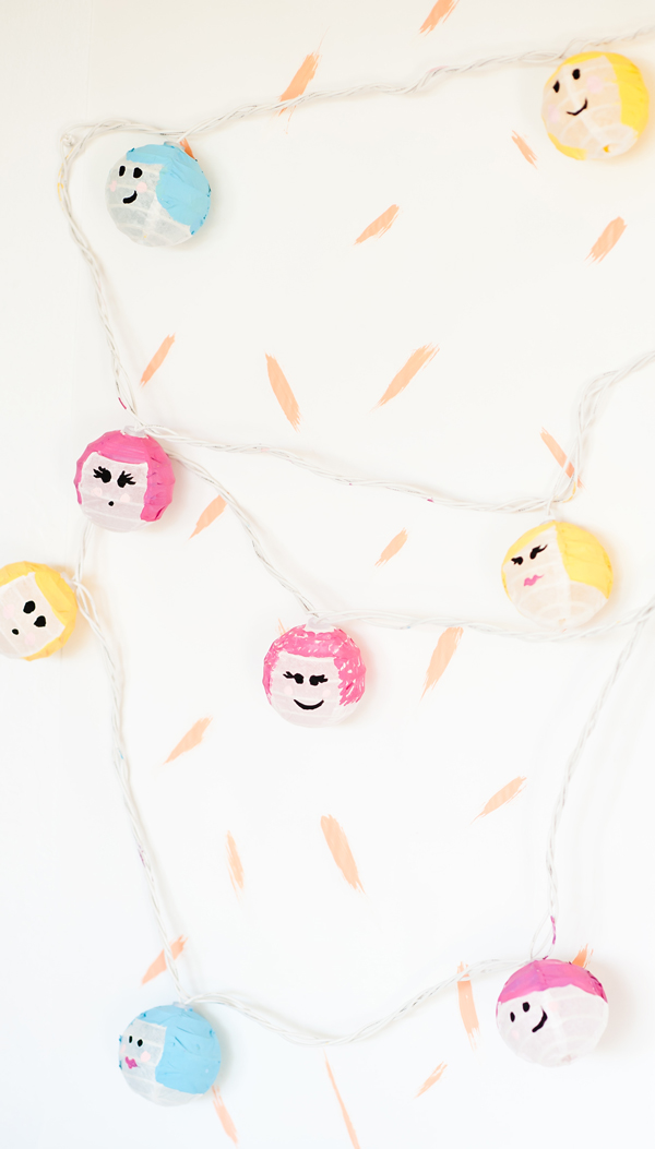 Painted face party lights